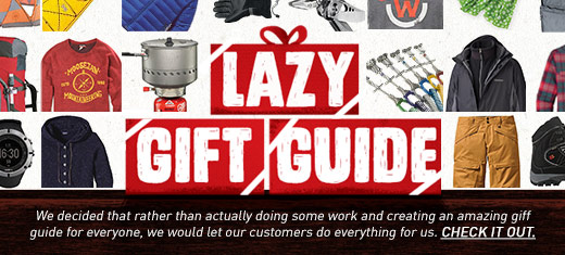 Moosejaw Lazy Gift Guide