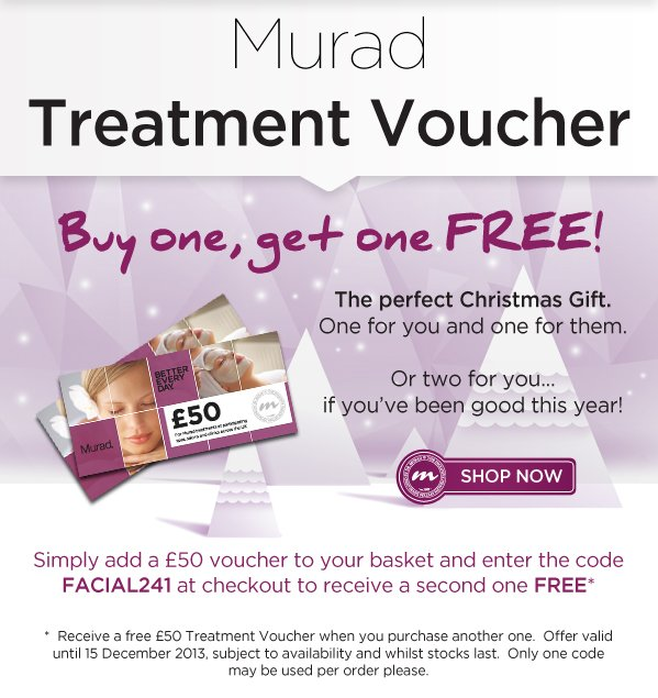 Murad Treatment Vouchers: Buy One Get One Free!