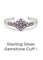 Sterling Silver Gemstone Cuff