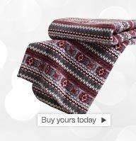 Buy your aztec fleece blanket today