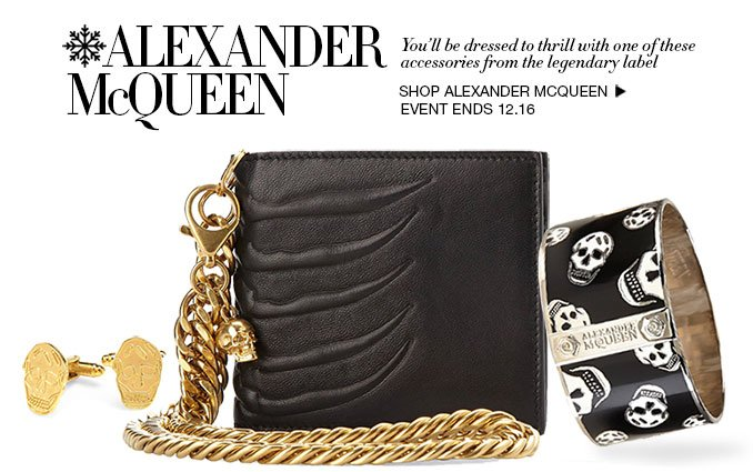 Shop Alexander McQueen Jewelry and Handbags