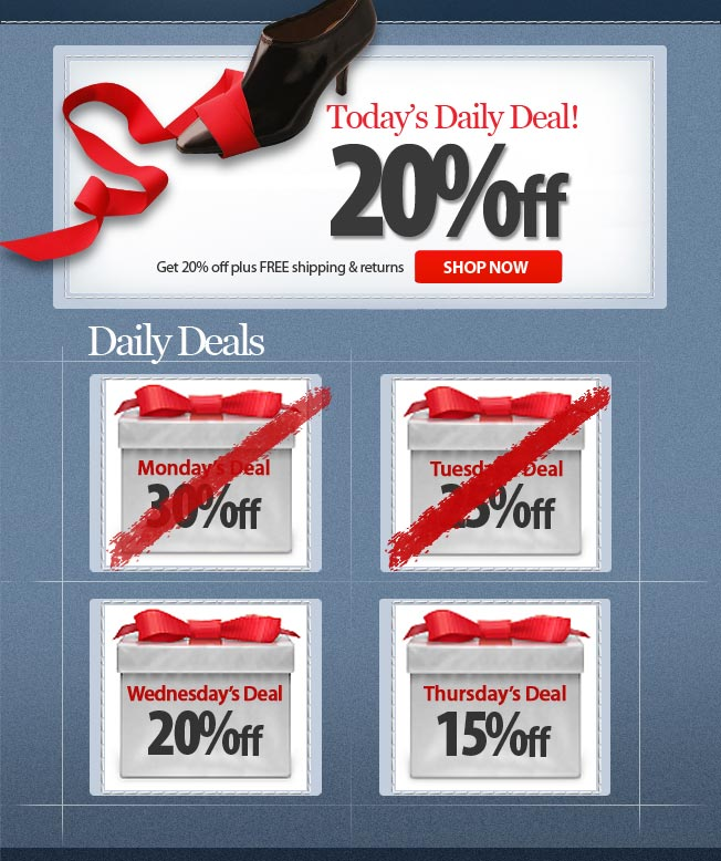 20% off! Today's Daily Deal!