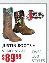 Womens Justin Boots on Sale