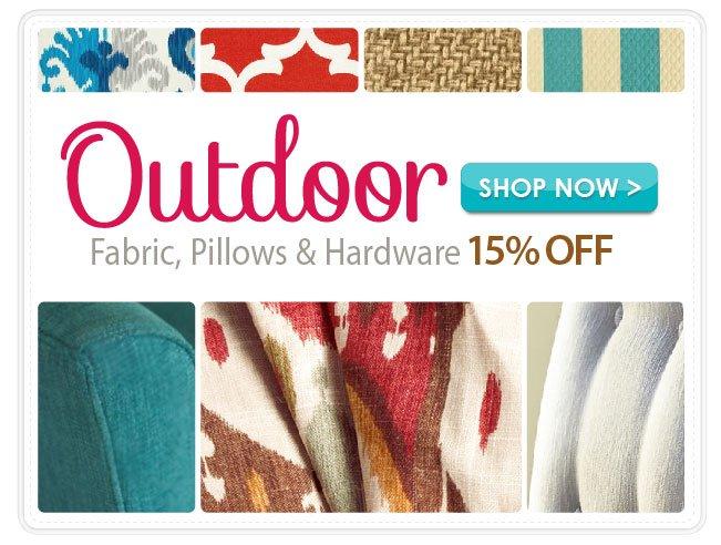 15% Off Outdoor Fabrics