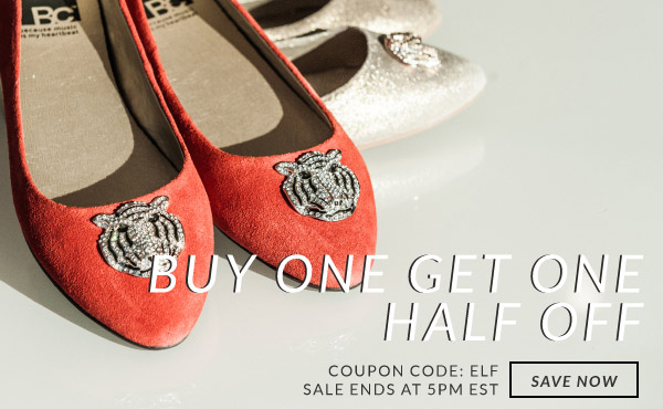 Buy One Get One Half Off with Coupon Code ELF