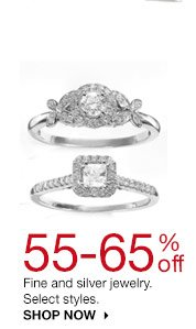 55-65% off Fine and silver jewelry. Select styles. SHOP NOW