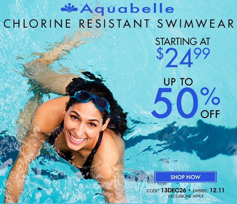 Aquabelle - Chlorine Resistant Swimwear - starting at $24.99