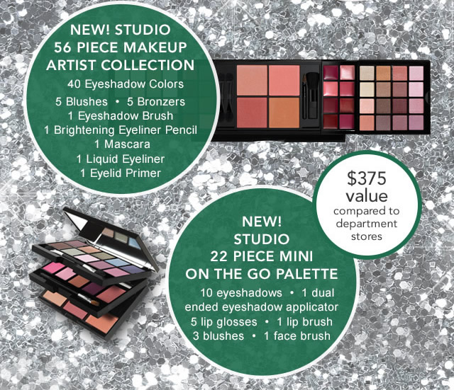 New Studio 56 Piece Makeup Artist Collection, New! Studio 22 Piece Mini On The Go Palette! $375 Value!