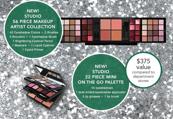 New! Studio 56 Piece Makeup Artist Collection, New! Studio 22 Piece Mini On The  Go Palette!  $375 Value
