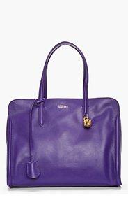 ALEXANDER MCQUEEN Purple Zip Around Padlock bag for women