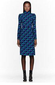 MARC BY MARC JACOBS Green & blue Etta Print Dress for women