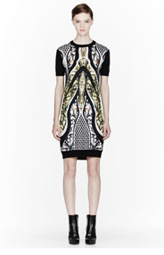 PETER PILOTTO Gold multicolor Alice Knit Dress for women