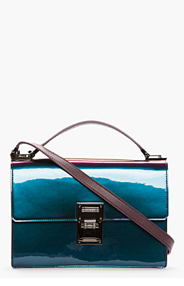 MUGLER Purple iridescent Muglerette Medium Bag for women