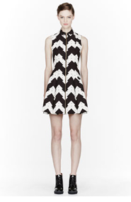 OPENING CEREMONY Black and white jagged print Kingston Dress for women