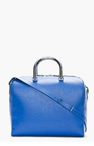 MAISON MARTIN MARGIELA Blue leather metal-handled bag for women