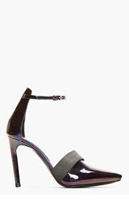 PROENZA SCHOULER Black Iridescent Ankle Strap D'Orsay Pumps for women