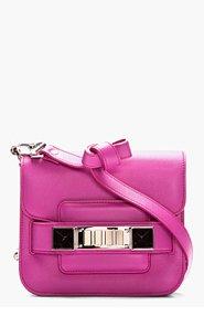 PROENZA SCHOULER Tiny Fuchsia Leather PS11 Shoulder Bag for women