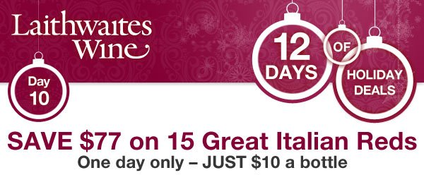 12 Days of Holiday Deals from Laithwaites Wine