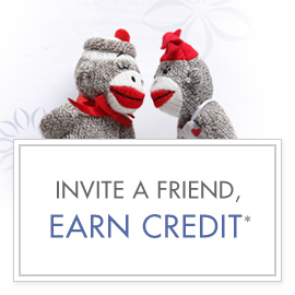 Invite friends and earn credit