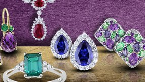 Give the Gift of Color: Blue Sapphire, Emerald, Ruby & Amethyst