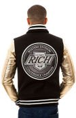 The Rich Team Varsity Jacket in Black and Gold
