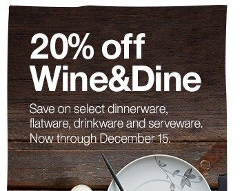 20% off Wine&Dine