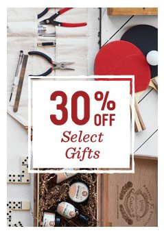 30% off select gifts