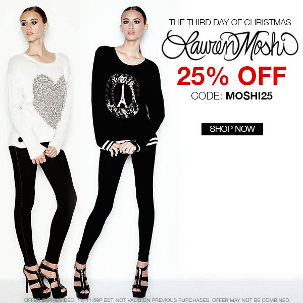 Take 25% off all Lauren Moshi at Boutique To You!
