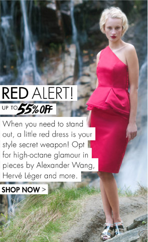 RED DRESSES UP TO 55% OFF