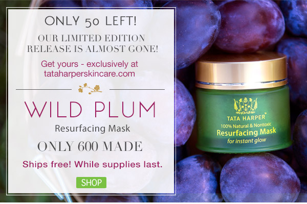 Only 50 Limited Edition Wild Plum Masks Left! Shop