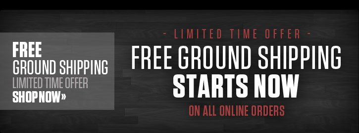Free Ground Shipping On Online Orders. Limited Time Offer