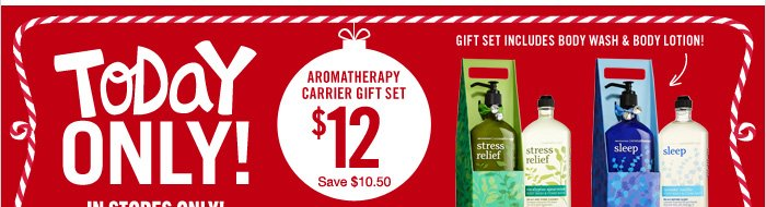 Aromatherapy Carrier Gift Set – $12