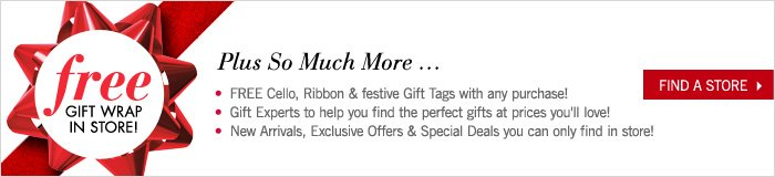 Free Gift Wrap In Store!