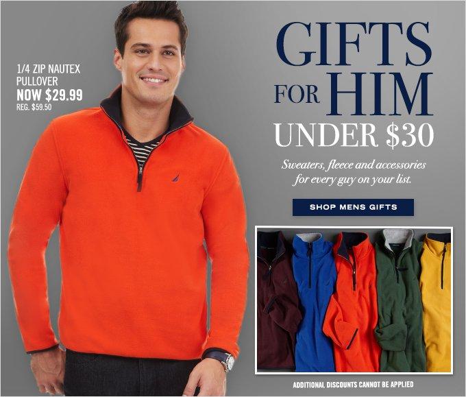 Shop Men's Gifts Under $30