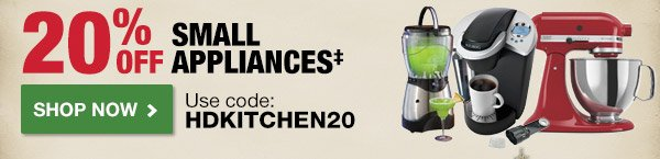 20% OFF Small Appliances