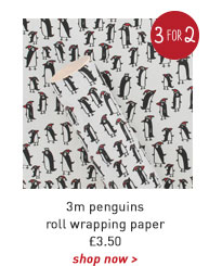 3m penguins roll wrapping paper