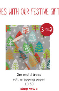3m multi trees roll wrapping paper