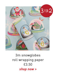 3m snowglobes roll wrapping paper