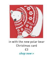 in with the new polar bear christmas card