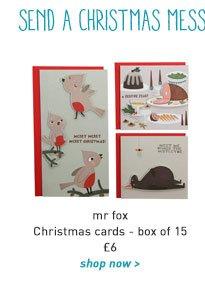 mr fox christmas cards - box of 15