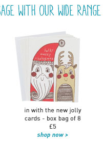in with the new jolly cards - box bag of 8
