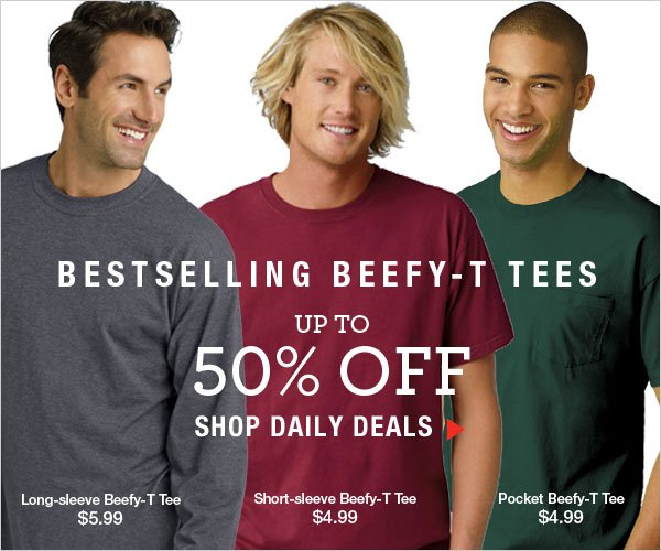 Up to 50% off Beefy-T Tees