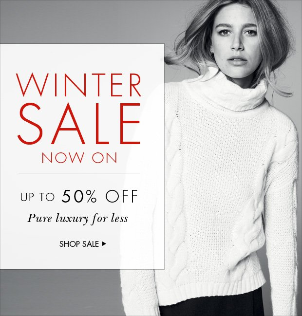 Download Images: Shop our Winter Sale with up to 50% off