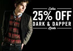 Shop EXTRA 25% OFF: Dark & Dapper Looks