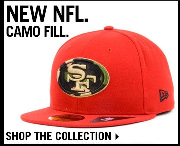 Shop New NFL Camo Fill Collection