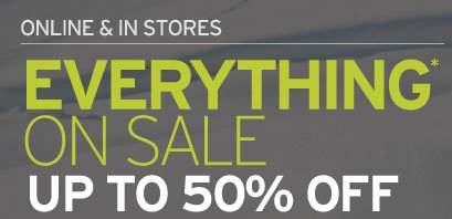 Everything On Sale Up To 50% OFF