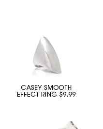 Casey Smooth Effect Ring.