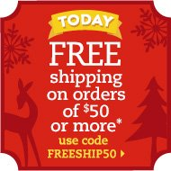 Free shipping on orders of $50 or more with code FREESHIP50