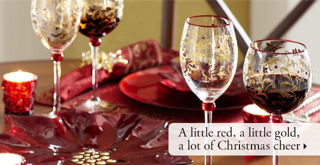 A little red, a little gold, a lot of Christmas cheer