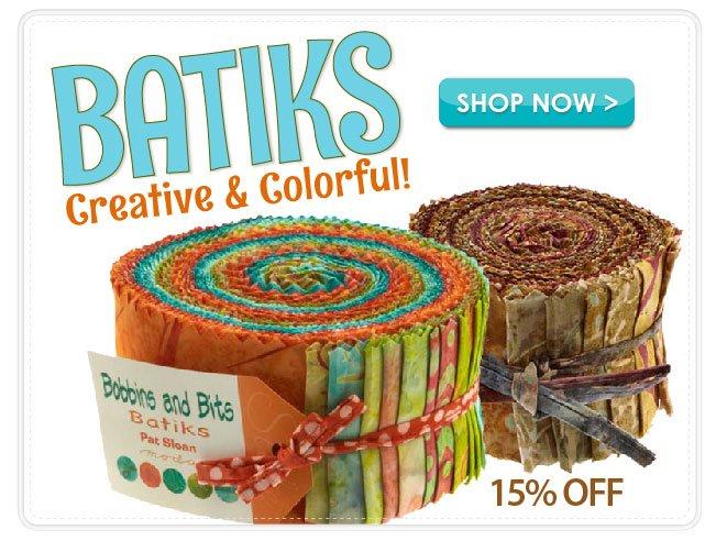 15% Off Btik Fabrics